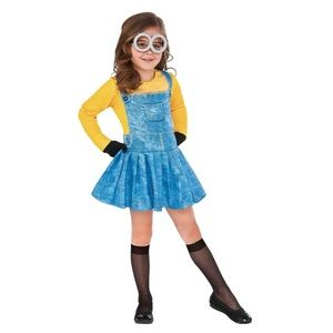 Toddler Girls Minion Costume Dress-up Sz Small